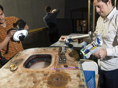 3d scanning the apollo 11 command module hatch